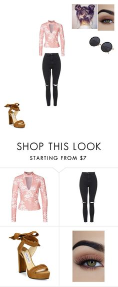 """""""Untitled #677"""" by melissaperez427 on Polyvore featuring Topshop and Jimmy Choo"""
