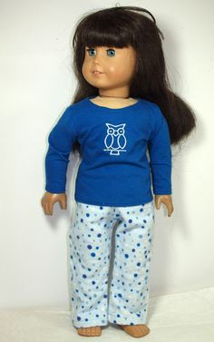 18 Doll Clothes American Girl Doll Pajamas by AbygailElizabeth, $9.99