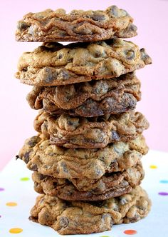 Choc-Full of Chocolate Chip Cookies Recipe ~ Says: Awesome cookie recipe and it is definitely chock-full of chocolate chips!