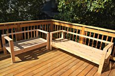 Unstained cedar outdoor sofa and loveseat - www.thehandymansdaughter.com