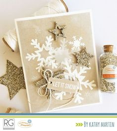Let it Snow by Kathy Martin for Journey Blooms using Fun Stampers Journey stamps, dies and supplies.