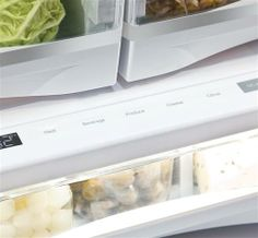 The full-width electronic temperature-controlled drawer on our GE Profile Series refrigerator has 5 accurate settings to deliver the optimal temperatures for keeping foods fresh.