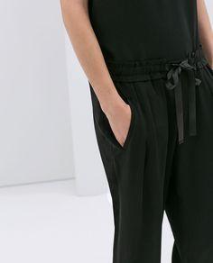 069650d1e86d ZARA F W 14 Drawstring loose fit pants Workout Pants