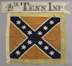 tennessee battle flags | The Confederate Battle Flag of the 4th Tennessee Infantry