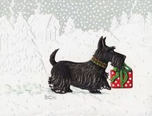 Christmas Scottie clipart - Google Search