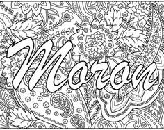 Moron - Swear Words Coloring Page from the Sweary Coloring Book - Swearing…