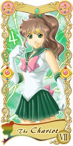 Sailor Moon:: Sailor Jupiter -- The Chariot Sailor Jupiter, Sailor Moon Stars, Sailor Moon Fan Art, Sailor Moon Character, Sailor Moon Crystal, The Chariot Tarot, Anime Fanfiction, Sailer Moon, Moon Pictures
