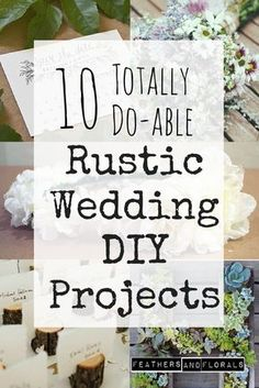 10 Simple & Inexpensive Rustic Wedding DIYs | www.feathersandflorals.com | succulent letter, free printable save the dates invitations, diy bridal bouquet, boho flower crown, make your own naked cake, fingerprint guest book, photo booth, polaroid frame, wooden sign, chalkboard, photo display