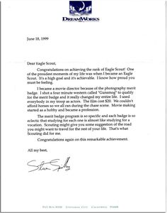 Check Out 30 Of The Coolest Eagle Scout Letters Iu0027ve Seen   Bryan On  Scouting