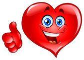 Thumb up heart — Stock Vector #4158206