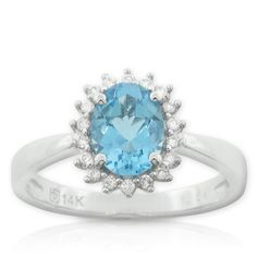 Blue Topaz & Diamond Ring #rock