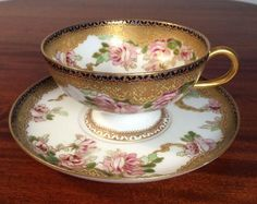 Incredibly gorgeous and detailed piece of Limoges - one of our all time top three! A very rare piece from Haviland & Co., made for Chas. Mayer. Very hard to find, especially in this condition! Beauti