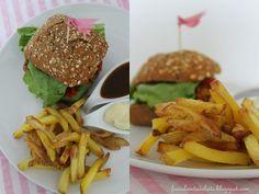 {Recipe} Vegetarische Hamburger + selbstgemachte Pommes