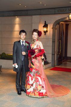 新郎新婦様からのメール シェ松尾青山サロン様の装花 : 一会 ウエディングの花
