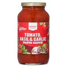 All Natural Basil & Garlic Tomato Pasta Sauce 26oz - Market Pantry™