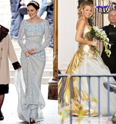 Gossip Girl wedding dresses - I like the one on the left.