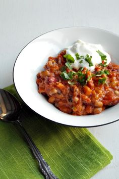 More earthy and smokey than spicy, this three bean chilli is easy to make, filling and a tasty way to cook from your store cupboard.