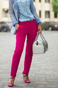 Zara Rasberry Cropped Trousers :: Sophie's Silhouette