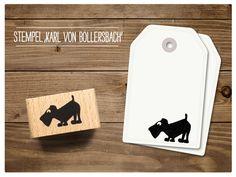 #Stempel mit #Hund  Karl von Bollersbach