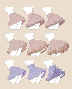 Comment dessiner des jupes à volants ?