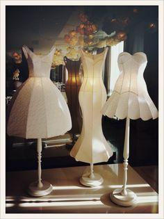 vogueparis:    Les robes lampes de l'hôtel Maison Moschino à Milan.