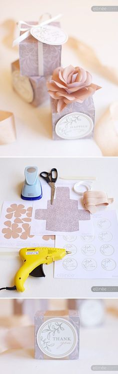 Ideas diy box template printables gift tags for 2019 Wedding Gift Wrapping, Wedding Favor Boxes, Diy Wedding Favors, Party Favors, Wedding Gifts, Trendy Wedding, Wedding Table, Wedding Decor, Wedding Ideas
