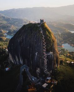 Canon Photography: The impressive El Penõl in Guatapé! 740 steps to get to the top of this massive … Places Around The World, Travel Around The World, Around The Worlds, Best Vacations, Vacation Trips, Canon Photography, Travel Photography, Photography Photos, Lifestyle Photography