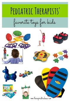 Cool toys and products for kids that promote child development as recommended by pediatric occupational and physical therapists. Occupational Therapy Activities, Sensory Therapy, Pediatric Occupational Therapy, Pediatric Ot, Speech Therapy, Play Therapy, Abc For Kids, Sensory Integration, Sensory Toys