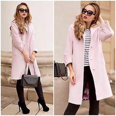 Alina Nue - Saint Laurent Chain Bag, Zara Black Jeans, Ivolga Oversize Coat, Stradivarius Shades - Film Noire