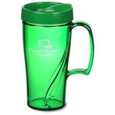 These custom mugs will have them drinking up your logo in no time!