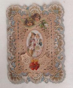 Four Beautiful Valentines Die Cut Diecut Lace Victorian Excellent | eBay