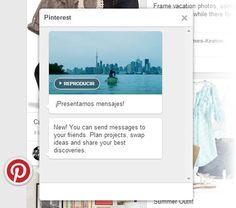 Pinterest integra una función de mensajería para comentar y compartir pines