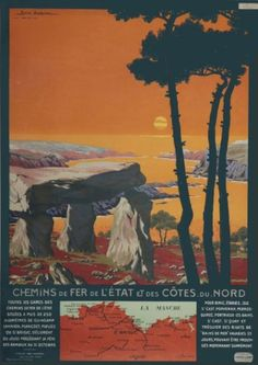 chemins de fer de l'état et des côtes du nord - Bretagne - illustration de Géo DORIVAL - 1911 -