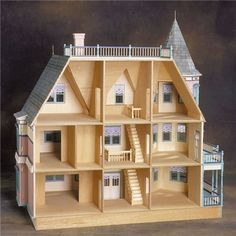 The Queen Anne II Dollhouse by Real Good Toys @ miniatures.com
