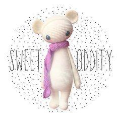 BINA the bear made by sweet_oddity / crochet pattern by lalylala