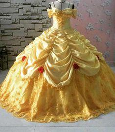 Disney princess dresses, belle dress и quinceanera dresses. Disney Belle Costume, Disney Dress Up, Disney Princess Dresses, Princess Belle Dress, Red Quinceanera Dresses, Eid Dresses, Quince Dresses, Blue Ball Gowns, Ball Gowns Prom