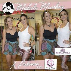 A Desejo Fitness recebeu a nossa linda poderosa Michele Munhoz muito bem e mostrou muitos produtos de qualidade no segmento fitness!!! A Poderosa amou!!