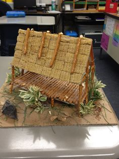 This is an example of a student created project for extra credit. It's called a chickee (Native American home).