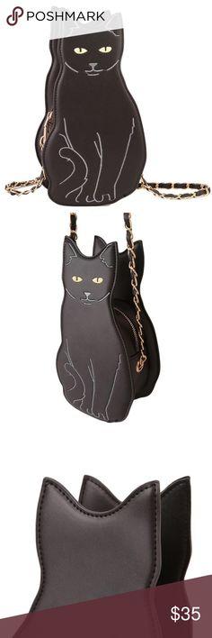 e5b76eeca4 *COMING SOON* Black Cat Crossbody Bag / Purse BRAND NEW - faux leather /