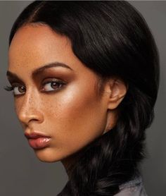 Draya Michele displays her taut tummy in fitted black sports bra Pigtail Hairstyles, Easy Hairstyles, Draya Michelle, Dark Skin Tone, Beauty Shots, Nude Lip, Model Agency, How To Do Nails, Makeup Inspiration