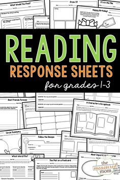 These reading comprehension worksheets are perfect for helping young readers make sense of what they read. Teach about character, plot, and setting with this giant bundle of reading response sheets! Phonics Activities, Book Activities, Reading Response, No Response, Early Elementary Resources, Leveled Books, Reading Comprehension Worksheets, Beginning Reading, Chapter Books