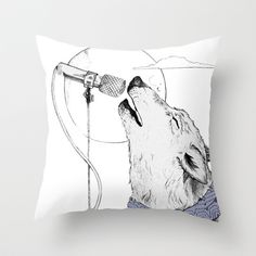 Singing the Blues Pillow cover