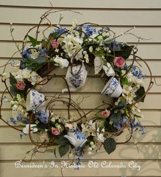 Bernideen's Tea Time Blog: TEA CUP WREATHS