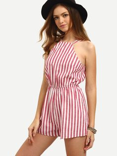 Shop Vertical Striped Sleeveless Jumpsuit online. SheIn offers Vertical Striped Sleeveless Jumpsuit & more to fit your fashionable needs.