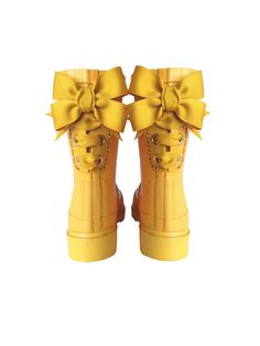 Timber & Tamber Rain Boots Rubber Gumboots Yellow. $47.00, via Etsy. // i wish they made these for adults