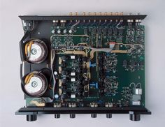 Sugden Masterclass AA Remote Volume Pre-Amplifier. Internal View showing full dual mono configuration. (1999-2007)