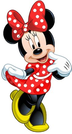Minnie Mouse is an anthropomorphic mouse created by Walt Disney. She is the girlfriend of Mickey. Mickey Mouse E Amigos, Mickey E Minnie Mouse, Theme Mickey, Mickey Mouse And Friends, Minnie Mouse Clipart, Minnie Mouse Drawing, Mickey Mouse Cartoon, Bolo Minnie, Baby Mickey