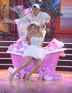 Popular score:Jeanie Mai, 41, and Brandon Armstrong also received 24 points for their jazz dance to Like A Virgin by Madonna Jeannie Mai, Hannah Brown, Jesse Metcalfe, Jazz Dance, Dancing With The Stars, Tango, Madonna, Harajuku, Tv Shows