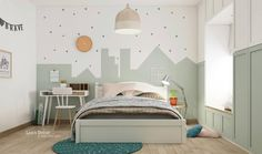 40 Awesome Kids' Rooms That Use The Pastel Color Palette When decorating a room for young ones in your home it can be hard to live up to their wild expectations. That's why we've put together this collection of 40 awe Girl Room, Girls Bedroom, Bedroom Decor, Blue Bedrooms, Kids Bedroom Designs, Kids Room Design, Pastel Colour Palette, Color Palettes, Kids Bunk Beds