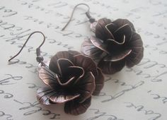 Hey, I found this really awesome Etsy listing at https://www.etsy.com/listing/178647223/copper-rose-earrings